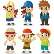 Royalty-Free Stock Vector Image: Cartoon kid icon set