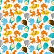 Royalty-Free Stock Vector Image: Seamless cartoon animal pattern