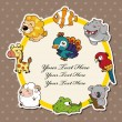Cartoon animal card - 