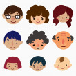 Royalty-Free Stock Vector Image: Cartoon family face icons