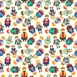 Royalty-Free Stock Vektorfiler: Cartoon Prince seamless pattern