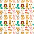 Royalty-Free Stock Vector Image: Chinese Zodiac animal seamless pattern