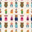 Royalty-Free Stock Vector Image: Cartoon animal seamless pattern