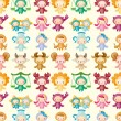 Cute zodiac symbols seamless pattern — Stock Vector
