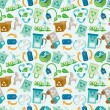 Seamless eco icon pattern - Stok Vektör