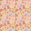 Royalty-Free Stock Vector Image: Cartoon animal ballerina seamless pattern