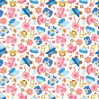Stock Vector: Seamless baby toy pattern