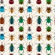 Cartoon insect bug seamless pattern - Stock Vector