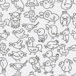 Royalty-Free Stock Vector Image: Hand draw bird seamless pattern