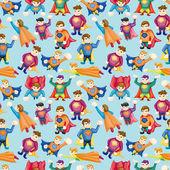 Cartoon superman seamless pattern — Stock Vector