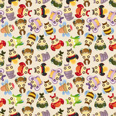 Cartoon insect bug seamless pattern — Stock Vector