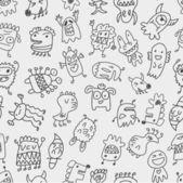Seamless monster pattern — Stock Vector