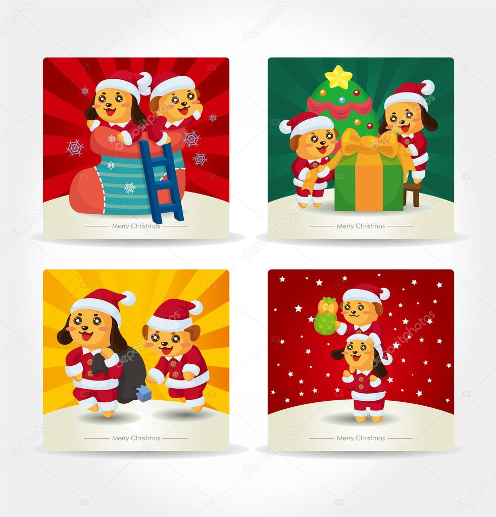 Cartoon xmas card — Stock Vector #7846927