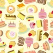 Seamless Cakes pattern — Stock Vector