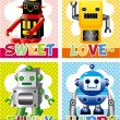 Royalty-Free Stock Vector Image: Robot card