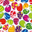 Seamless Easter egg pattern — Grafika wektorowa