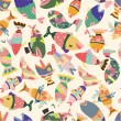 Seamless fish pattern — Stockvektor