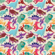 Royalty-Free Stock Vector Image: Seamless dinosaur pattern