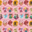 Vector de stock : Seamless love pattern