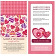 Valentine heart card — Stock Vector