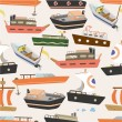 Seamless boat pattern - Stock Vector