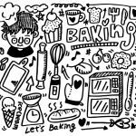Hand draw baking element — Stock Vector #7861593