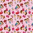 Seamless love pattern — ストックベクター #7861619