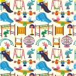 Seamless park playground pattern — Stock Vector #7861684