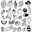 Stock Vector: Hand draw vegetable