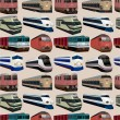 Vecteur: Seamless train pattern