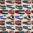 Seamless train pattern — Stock vektor #7861937