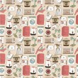 Seamless home appliances pattern — Stock Vector #7862022