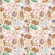 Seamless baby thing pattern — Stock Vector