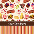 Cake card — Vector de stock