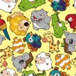 Seamless animal pattern — Image vectorielle