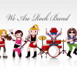 Rock band card — Stockvector #7862212