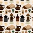 Seamless coffee pattern — Stock Vector #7862487