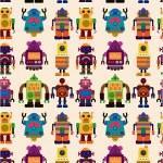 Seamless Robot pattern — Stock Vector #7862533
