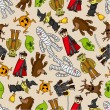 Royalty-Free Stock Imagem Vetorial: Seamless monster pattern