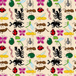 Seamless insect pattern — Stock Vector #7862556