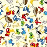 Seamless bird pattern — Stock Vector #7862568