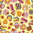 Seamless cake pattern — Stock Vector #7862625
