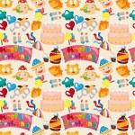 Seamless birthday pattern — Stock Vector