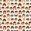 Seamless child face pattern — Stock Vector