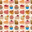 Seamless cake pattern — Stock Vector #7862904
