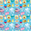 Cartoon baby good seamless pattern - Image vectorielle
