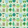 Stock Vector: Seamless eco icon pattern