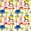 Cartoon child toy seamless pattern - Stock Vector