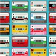 Music tape seamless — Stock Vector