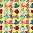 Seamless monster pattern - 图库矢量图片